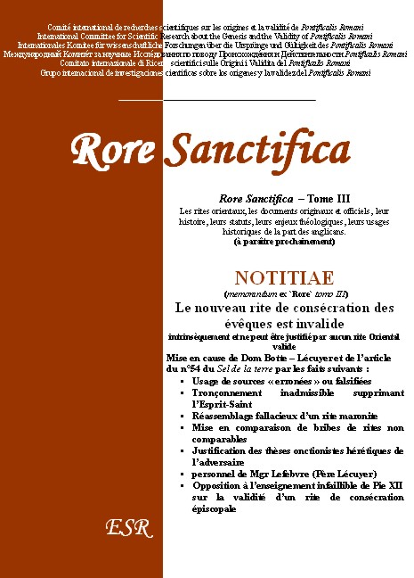 Rore Sanctifica Tome III
